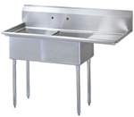 Green World 2-compartment Sink Rightside Drainboard - TSB-2-R2