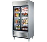 "True TSD-33G-LD 39.5"" (2) Glass Sliding Doors Reach-In Refrigerator"