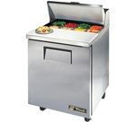 True 27-Inch 6.5 Cu.Ft. (1) Door Sandwich / Salad Prep Table, With (8) 1/6 Pans, (TSSU-27-08-HC)