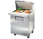 True 27-Inch 6.5 Cu.Ft. (1) Door Sandwich / Salad Prep Table, With (12) 1/6 Pans, (TSSU-27-12M-C-HC)