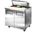 True 36-Inch 8.5 Cu.Ft. (2) Door Sandwich / Salad Prep Table, With (8) 1/6 Pans, (TSSU-36-08)
