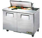 True 48-Inch 12 Cu.Ft. (2) Door Sandwich / Salad Prep Table, With (10) 1/6 Pans, (TSSU-48-10-HC)