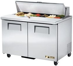 True 48-Inch 12 Cu.ft. (2) Door Sandwich / Salad Prep Table, With (12) 1/6 Pans, (TSSU-48-12-HC)