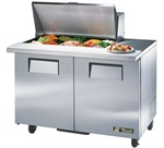 True 48-Inch 12 Cu.Ft. (2) Door Sandwich / Salad Prep Table, With (15) 1/6 Pans, (TSSU-48-15M-B)