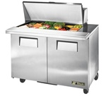 True 48-Inch 12 Cu.Ft. (2) Door Sandwich / Salad Prep Table, With (18) 1/6 Pans, (TSSU-48-18M-B-HC)