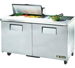 True 60-Inch 15.5 Cu.Ft. (2) Door Sandwich / Salad Prep Table, With (8) 1/6 Pans, (TSSU-60-08)