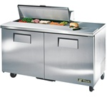 True 60-Inch 15.5 Cu.Ft. (2) Door Sandwich / Salad Prep Table, With (10) 1/6 Pans, (TSSU-60-10)