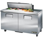 True 60-Inch 15.5 Cu.Ft. (2) Door Sandwich / Salad Prep Table, With (12) 1/6 Pans, (TSSU-60-12)