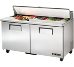 True 60-Inch 15.5 Cu.Ft. (2) Door Sandwich / Salad Prep Table, With (16) 1/6 Pans, (TSSU-60-16)