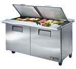 "True 2-Door Food Prep Table -  60"" Wide, 24 Pans"