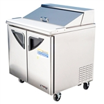 Turbo Air TST-36SD 2-Door Refrigerated Food Prep Table