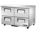 "True 48"" 4-Drawer 12 Cu.Ft. Undercounter Refrigerator, (TUC-48D-4-HC)"