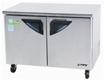 Turbo Air 48-Inch 12 Cu.Ft. (2) Door Super Deluxe Under Counter Freezer, (TUF-48SD)