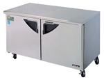 Turbo Air 60-Inch 16 Cu.Ft. (2) Door Super Deluxe Under Counter Freezer, (TUF-60SD)