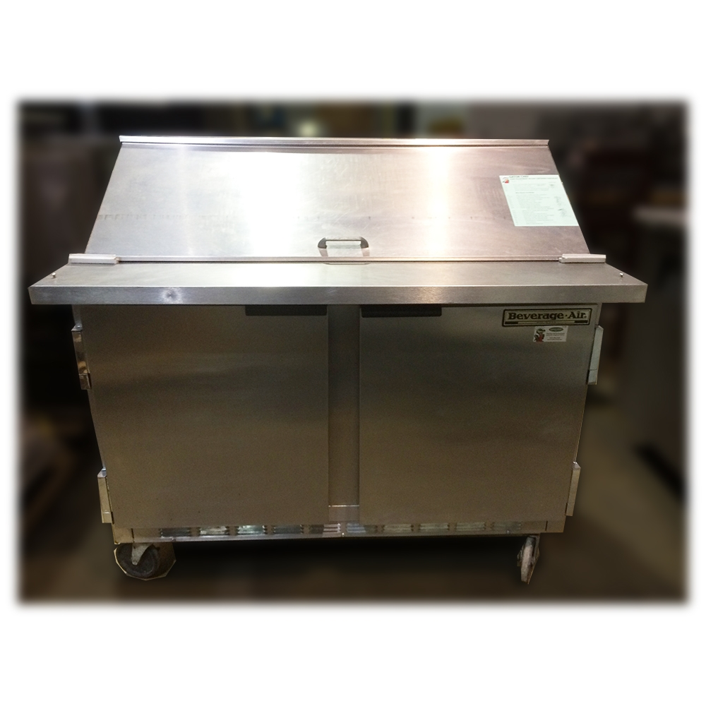 Used Beverage Air Sp48 12m Refrigerated Food Prep Table Rh Gatorchef Com  Food Service Prep Tables