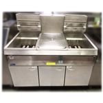 Used Pitco F14S-CV Dual Gas Fryer