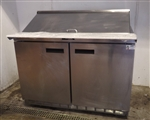 Used Delfield 4448N-18M 2-Door Refrigerated Prep Table