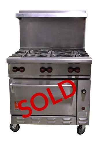 Used Wolf Challenger Xl Gas 6 Burner Commercial Restaurant