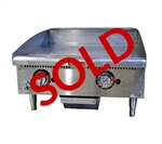 USED - Star-Max 24-inch Natural Gas Heavy Duty Griddle with Thermostatic Control, (624TF)
