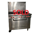 "USED - Southbend X436D 6-Burner Restaurant Range 36"" Wide - Natural Gas"