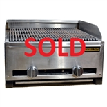 "USED - Lava Rock Charbroiler 22"" wide Nat. Gas - (Connerton RLRB-23-22L)"