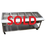 USED - Duke Electric Portable 5 Well Steam Table w/Cutting Board - (EP305 M)
