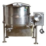 USED - Cleveland KGL-40-T  40 Gallon Tilting 2/3 Steam Jacketed Natural Gas Fired Kettle