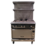 "USED - Vulcan V4B1HS 4-Burner with 12"" Rightside French Top and Standard Oven Restaurant Range 36"" Wide - Natural Gas (U05787)"