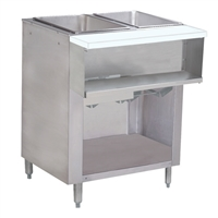 Advance Tabco Natural Gas Water Bath Steam Table - 2 Wells, Cabinet Base, 15,000 BTU (WB-2G-NAT-BS)