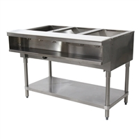 Advance Tabco Natural Gas Water Bath Steam Table 3 Wells Open Base, 15,000 BTU (WB-3G-NAT)