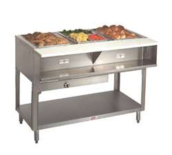 Supreme Metal Natural Gas Triumph Water Bath Hot Food Table - 25,000 BTU, (WB-4G-NAT)