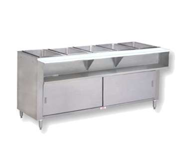 Supreme Metal Natural Gas Triumph Water Bath Hot Food Table - 4 well gas steam table