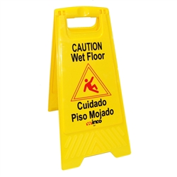 "Winco Caution ""Wet Floor"" Sign, (WCS-25)"