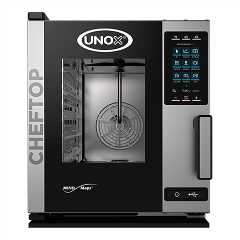 UNOX MIND.Maps Plus Electric Compact Combi Oven – (5) Hotel Pan Capacity - (XACC-0513-EPR)