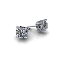 1 1/2ctw. Basket Set Round Brilliant Diamond Studs