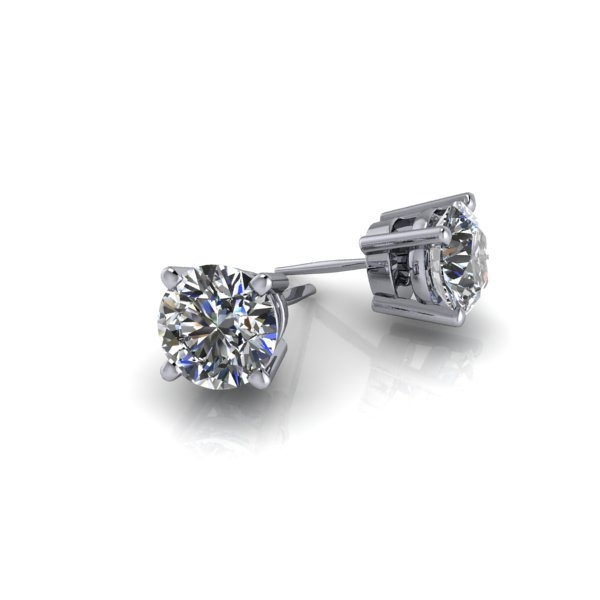 Basket Set Round Brilliant Diamond Studs