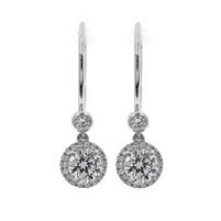 7/8ctw. Diamond Halo Dangles