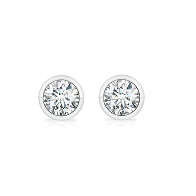 1/4ctw. Basket Set Round Brilliant Diamond Studs
