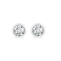 1ctw. Bezel Set Martini Diamond Studs