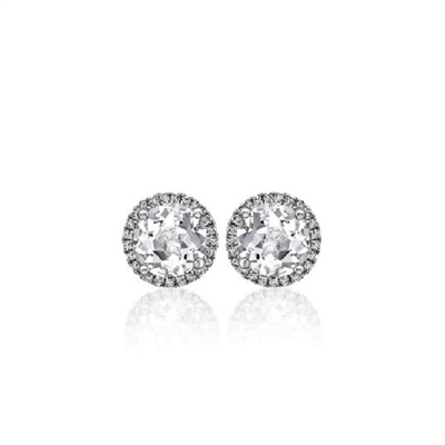 "1/2ctw. ""Angel"" Round Brilliant Diamond Halo Stud Earrings"