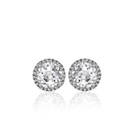 "5/8ctw. ""Angel"" Round Brilliant Diamond Halo Stud Earrings"