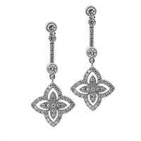 Petals Multi-Diamond Drop Earring