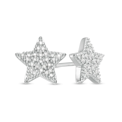 1/4ctw. StarShine Diamond Stud Earrings