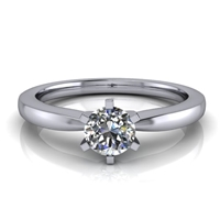 "Six Prong Round Edge Solitaire Engagement Ring â…""ct."