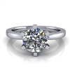 Six Prong Round Edge Solitaire Engagement Ring 1ct.