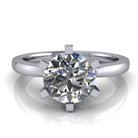 Six Prong Round Edge Solitaire Engagement Ring 1¼ct.