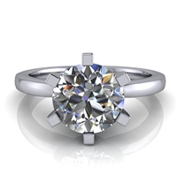 Six Prong Round Edge Solitaire Engagement Ring 1½ct.