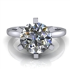 Six Prong Round Edge Solitaire Engagement Ring 2ct.