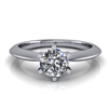 Six Prong Knige Edge Solitaire Engagement Ring ½ct.