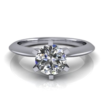 Six Prong Knife Edge Solitaire Engagement Ring ¾ct.